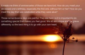 Remembrance dates